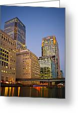 Canary Wharf. Greeting Card