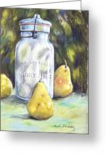 Canned Pears  Greeting Card
