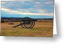Cannons Of Manassas Battlefield Greeting Card