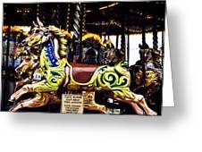 Carousel Horses Greeting Card