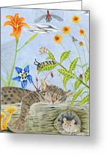 Cat And Mouse Greeting Card by Gerald Strine