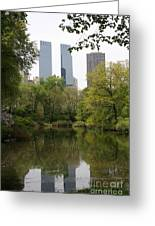 Central Park Pond Greeting Card