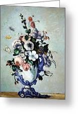 Cezanne's Flowers In A Rococo Vase Greeting Card
