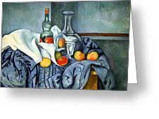 Cezanne's The Peppermint Bottle Greeting Card