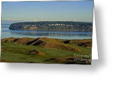 Chambers Bay Golf Course - University Place - Washington Greeting Card