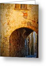 Chania Alley Greeting Card