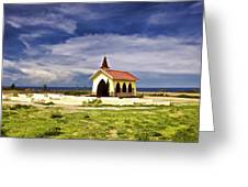 Chapel By The Sea Greeting Card