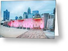 Charlotte City Skyline In The Evening Greeting Card