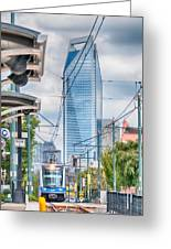 Charlotte North Carolina Light Rail Transportation Moving System Greeting Card