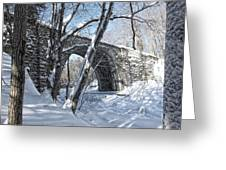 Cheshire Railroad Bridge Greeting Card