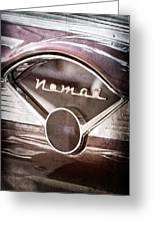 Chevrolet Belair Nomad Dashboard Emblem Greeting Card