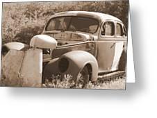 Chevrolet Rust Bucket Greeting Card