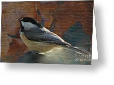 Chickadee In Autumn Greeting Card