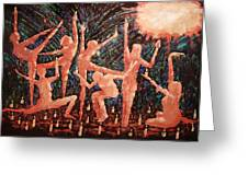 Children Of The Light Greeting Card by Anthony Falbo