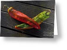 2 Chilies Greeting Card