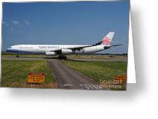 China Airlines Airbus A340 Greeting Card