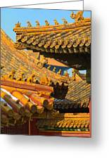 China Forbidden City Roof Decoration Greeting Card