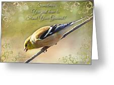 Chirping Gold Finch Greeting Card