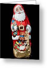 Chocolate Santa Claus Greeting Card