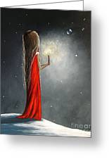 Christmas Candle By Shawna Erback Greeting Card by Shawna Erback