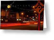 Christmas In Columbiana Ohio Greeting Card