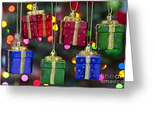 Christmas Present Ornaments Greeting Card