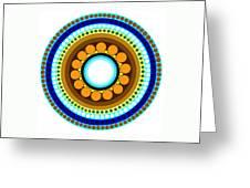 Circle Motif 214 Greeting Card