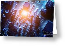 Circuit Board Abstract Greeting Card