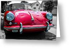 Classic Red P Sports Car Greeting Card
