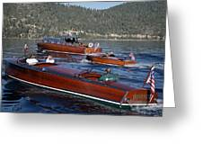Classic Tahoe Runabouts Greeting Card