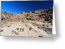 cliff in San Pietro island Greeting Card