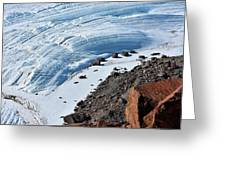 Cliffs And Sea Ice Greeting Card