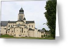 Cloister Fontevraud -  France Greeting Card