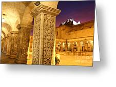Cloisters At Sunset Arequipa Greeting Card