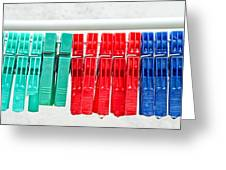 Clothes Pegs Greeting Card