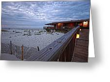 Cloudy Morning At The Sea N Suds Greeting Card