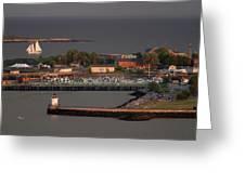 Coastal Life In Maine Greeting Card