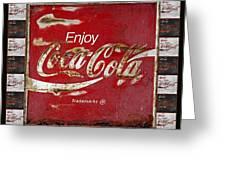 Coca Cola Signs Greeting Card