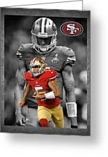 Colin Kaepernick 49ers Greeting Card by Joe Hamilton