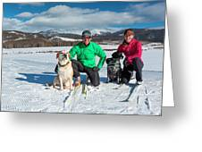 Colorado Cross Country Skiing Greeting Card