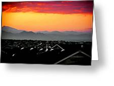 Colorado Sunset Greeting Card