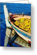 Colorful Boat Greeting Card