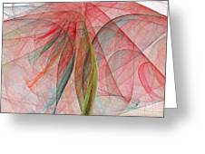 Colorful Silk Scarf Greeting Card