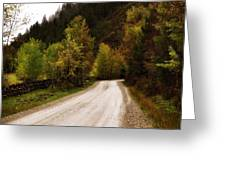 Colors Of Fall Series Zz Greeting Card