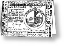 Continental Banknote, 1776 Greeting Card