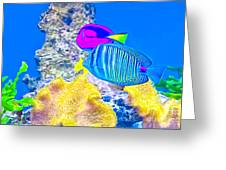 Coral Fishes Greeting Card