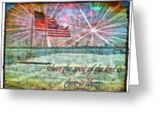 2 Corinthians 3 17 Greeting Card