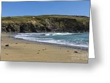 Cornish Seascape Gunwalloe Greeting Card