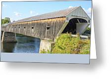 Cornish-windsor Covered Bridge  Greeting Card by Edward Fielding