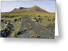 Corona Volcano On Lanzarote Greeting Card